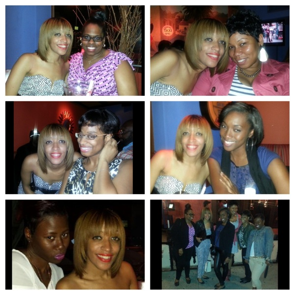 Me with my girls at my birthday dinner
