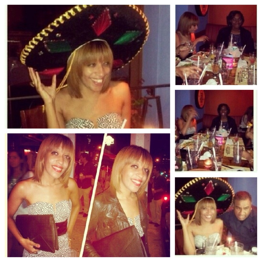 Having a ball at my 28th birthday dinner!
